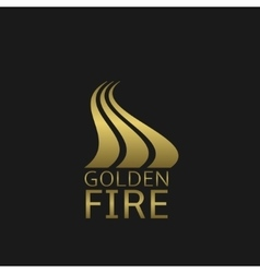 Golden fire logo vector