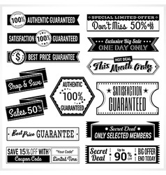 Sales promotion set in retro vector