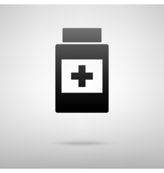 Medical conteiner black icon vector