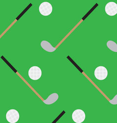 Seamless pattern golf stick and ball vector image
