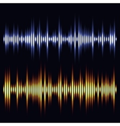 Sound waves audio wave design vector