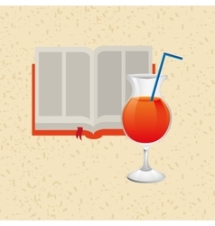 Cocktail recipe design vector