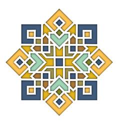 arabesque eastern pattern vignette in islamic vector image vector image