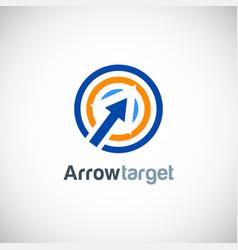 arrow target logo vector image vector image
