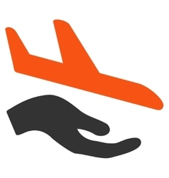 Aviation support icon vector