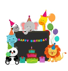 Birthday Animals vector image
