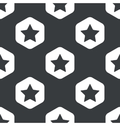 Black hexagon star pattern vector image vector image