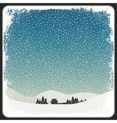 blank winter scene background vector image