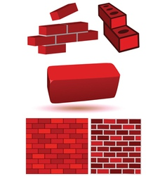 Brick wall set vector