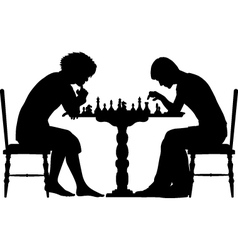 Chess match vector image vector image