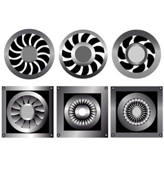 cooling fan vector image vector image
