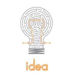 Creative idea in the maze vector
