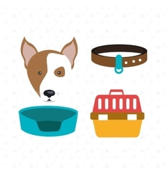 Dog plate collar vector
