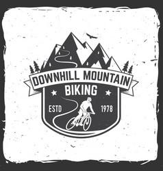 Downhill mountain biking vector