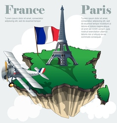 France country infographic map in 3d vector