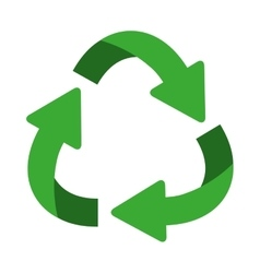 Green oval recycling symbol shape with arrows vector