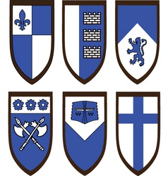 heraldic shield set vector image