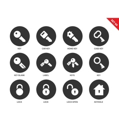 Key icons on white background vector image vector image