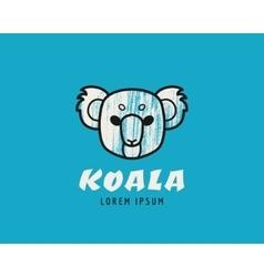Koala head logotype vector