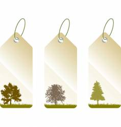 leaf tags vector image vector image