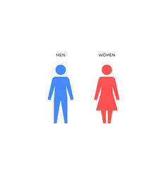 man and woman perfect icons wc signs vector image vector image