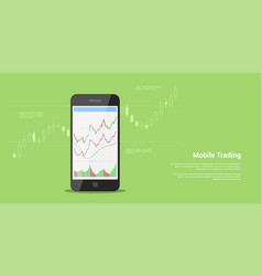 Mobile trading banner vector