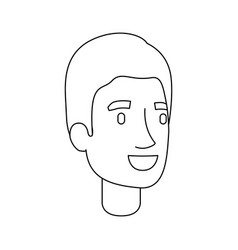 Monochrome silhouette of guy face with short hair vector
