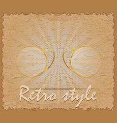 retro style poster old eyeglasses pince-nez vector image vector image