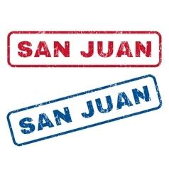 San juan rubber stamps vector