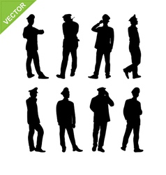Security guard silhouette vector image