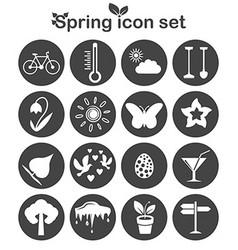 Spring icons set 16 seasonal signs vector image vector image