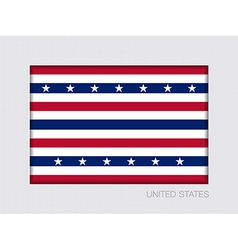 Stars and stripes flag aspect ratio 2 to 3 vector