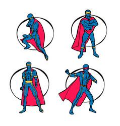 superhero set vector image