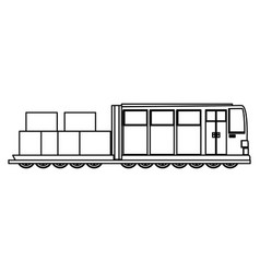 Train transport isolated vector