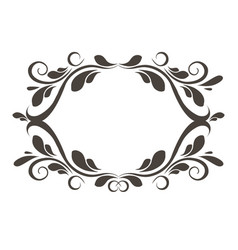 vintage floral frame element for design vector image vector image