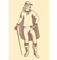 vintage man vector image