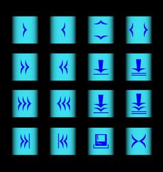 Web icon 16 black blue vector