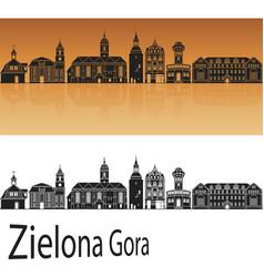 zielona gora skyline vector image vector image