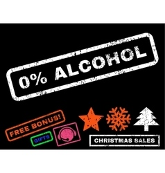 0 percent alcohol rubber stamp vector