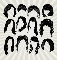 wigs vector image