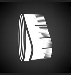 Tailor measure tape icon vector
