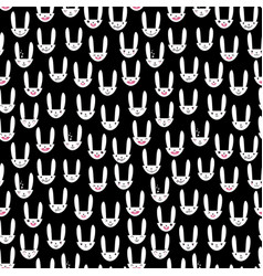 Rabbit seamless pattern-17 vector