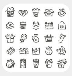 Gift box icons set vector image