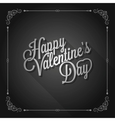Valentines day vintage movie design background vector