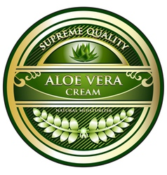 Aloe vera cream label vector