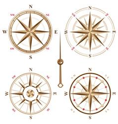4 vintage compasses vector