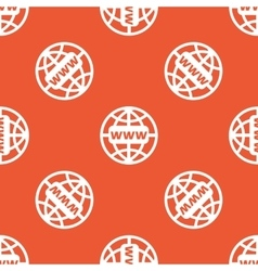 Orange global network pattern vector