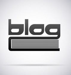 Blog icon vector