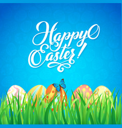 Happy easter celebration card for easter with a vector