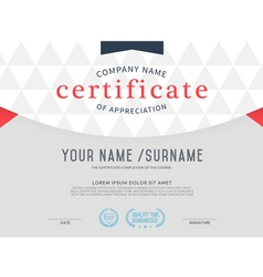 Certificate template vintage and modern vector